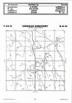Sherman Township, Springs Creek, Directory Map, Antelope County 2006